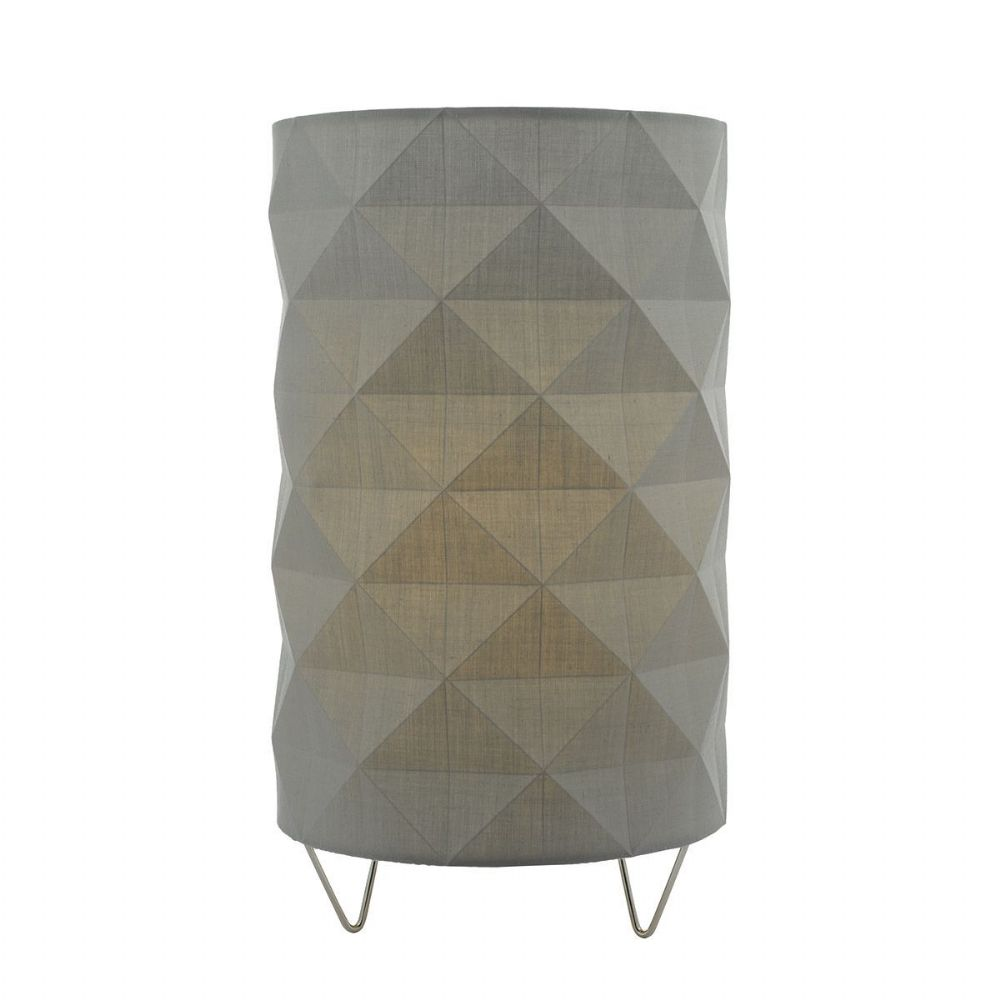 Aisha Table Lamp complete with Grey Shade (Class 2 Double Insulated) BXAIS4139-17